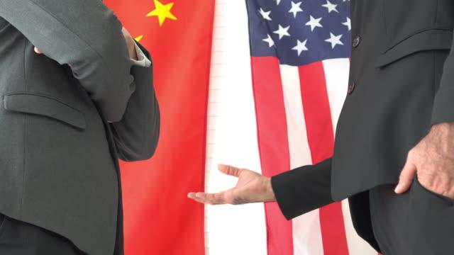 vidéos et rushes de etats-unis donner un accord à la chine - chine