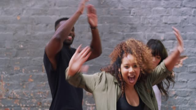 Give us your best moves 4k footage of a group of friends doing a dance hip hop stock videos & royalty-free footage