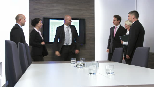 HD: Giving A Friendly Reception At Meeting video