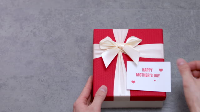 Giving Happy Mother's Day Gift 4K Video