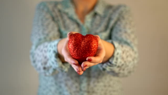Giving Heart Shaped for Valentine's Day
