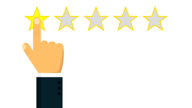 Giving rating stars. animation with optional luma matte. Alpha Luma Matte included. 4k video