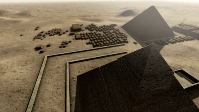 Giza platform Egypt. An animation from above video