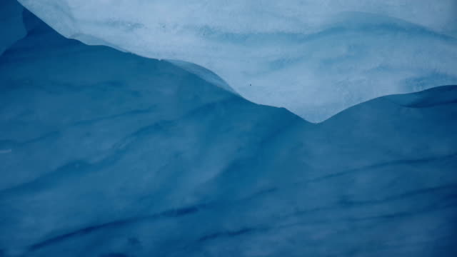 Glacial ice melting video