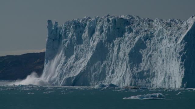 glacier cliff calving video