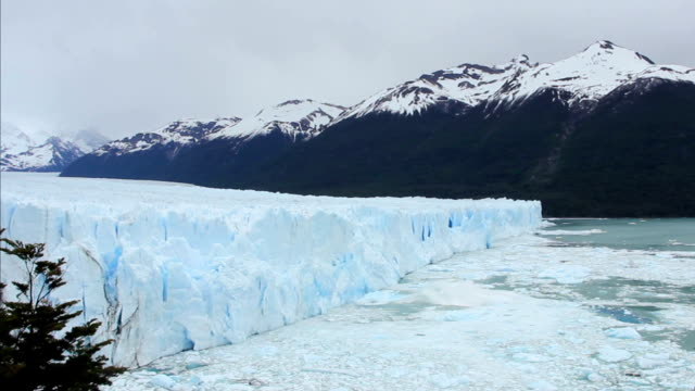 Glacier Ice Breaking Off and Falling video