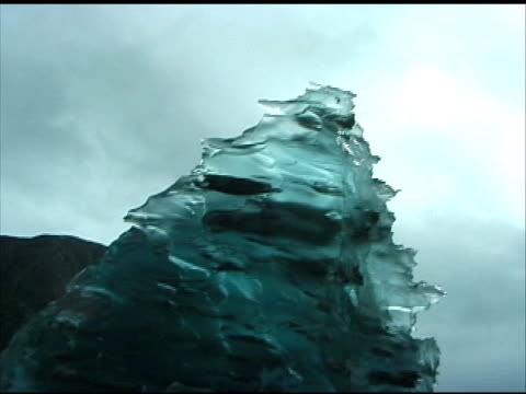 Glacier Iceberg: Closeup, Push into Tip