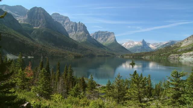 hd: park narodowy glacier - jodła filmów i materiałów b-roll