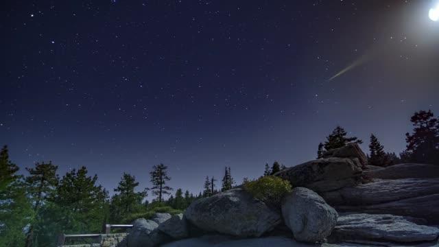 Glacier Point Full Moon Night Timelapse Tilt Yosemite National Park