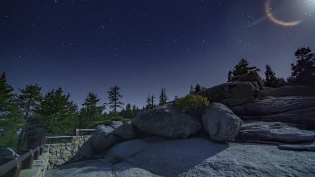 Glacier Point Full Moon Night Timelapse Yosemite National Park