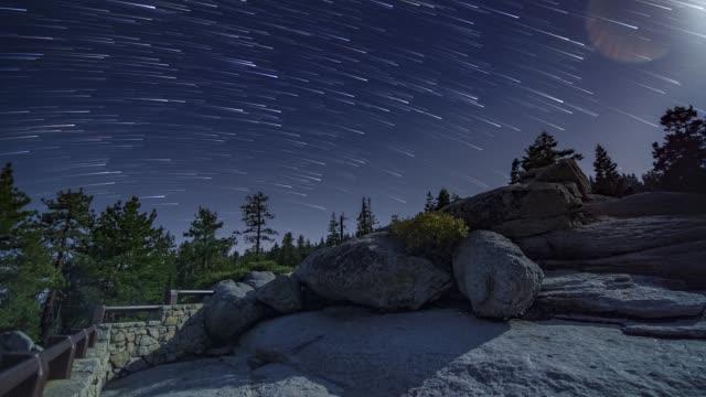 Glacier Point Full Moon Night Timelapse Yosemite National Park Startrails