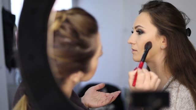 Glamorous Makeup - Makeup Procedure Photo Shoot, Make-Up, Actress, Stage Make-Up, Make-Up Artist, Applying, Artist beautician stock videos & royalty-free footage
