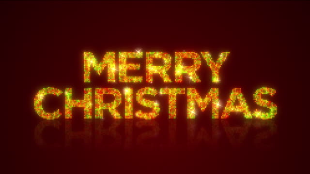 Glamorous MERRY CHRISTMAS sign Looping Background with Matte video