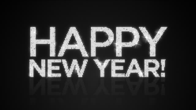 Glamourous HAPPY NEW YEAR! sign Looping Background video