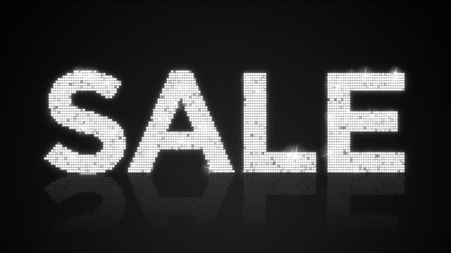 Glamourous SALE sign Looping Background video