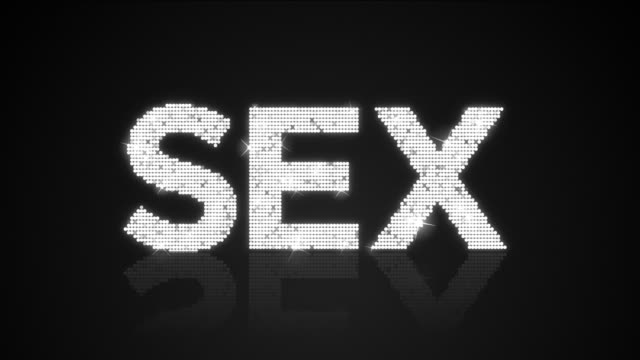 Glamourous SEX sign Looping Background video