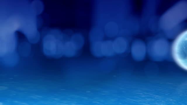 Glas orb countdown. video