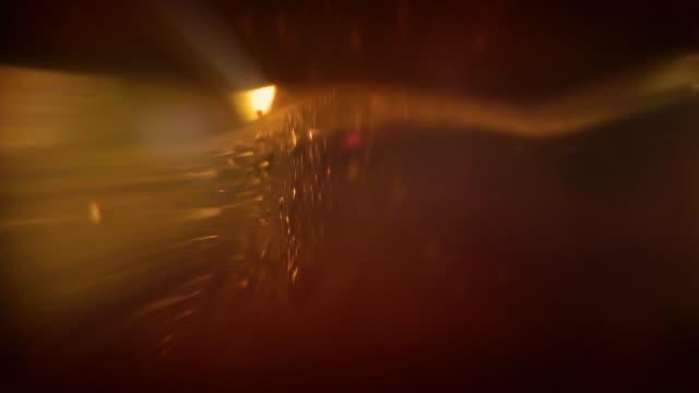 Glas abstrakte amber LOOP – Video