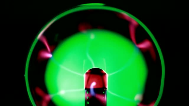 Glass ball, emitting electrical impulses video