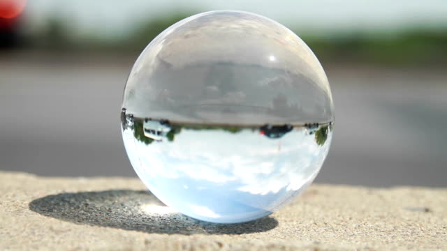 Glass ball, traffic video
