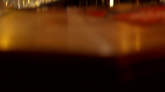 Glass Behind A Bar Counter video