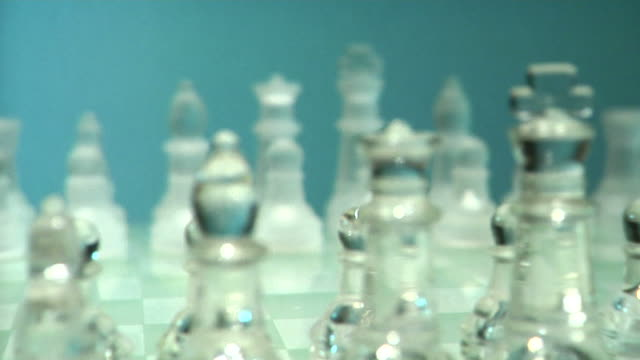 Glass Chessboard Dolly In HD​ video