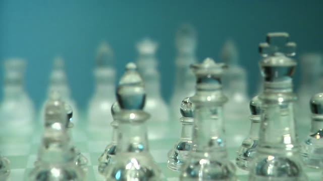 Glass Chessboard Dolly In Slow HD​ video