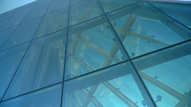 Glass Curtain Facade Wall Construction. Fasteners Elements of Spider Glass System. Facade Detail. Architecture Abstract Background. Glass Curtain Facade Wall Construction. Fasteners Elements of Spider Glass System. Facade Detail. Architecture Abstract Background. orthopedic equipment stock videos & royalty-free footage