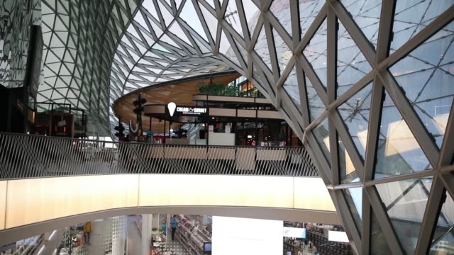 Glass dome of the shopping center Glass dome of the shopping center dormir stock videos & royalty-free footage