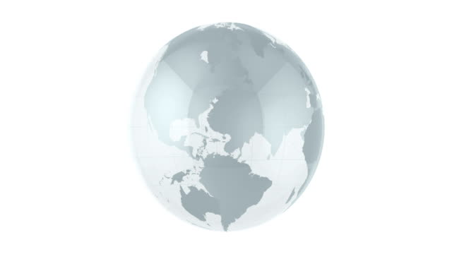 4k glass globe animation | loopable - glass world video stock e b–roll