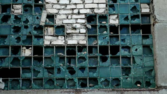 glass house window abandoned warehouse video factory broken - vídeo