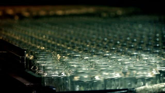 Glass Jar on Conveyor video