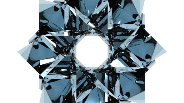 3D Glass Kaleidoscope Design Element video