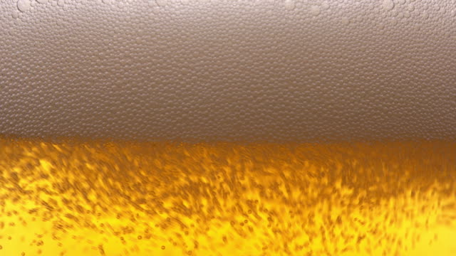 Glass of beer close up video