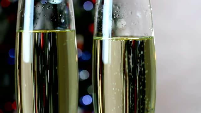 Glass of Champagne celebration for new years video