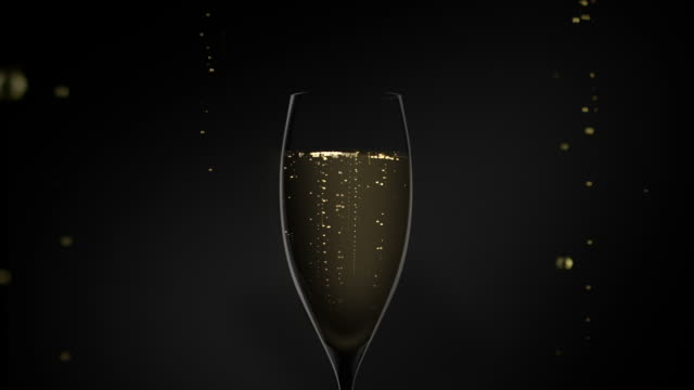 glass of champagne video