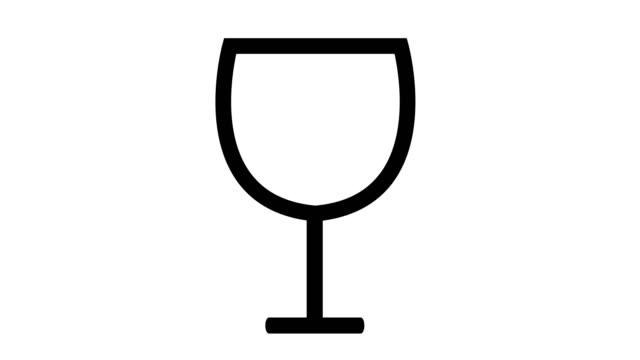 赤ワインのガラス表示と注がれています。 - ぶどう イラスト点の映像素材/bロール