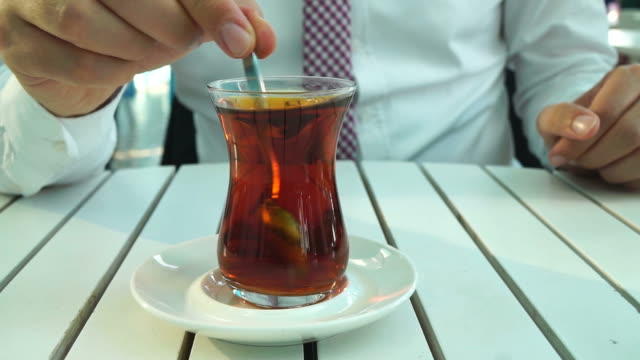 Glass Of Tea with Business Man video