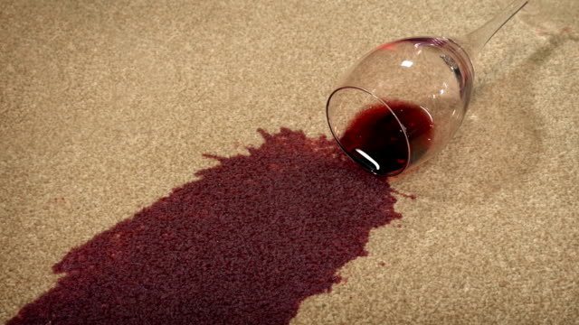 Glass Of Wine Knocked Over On Carpet video