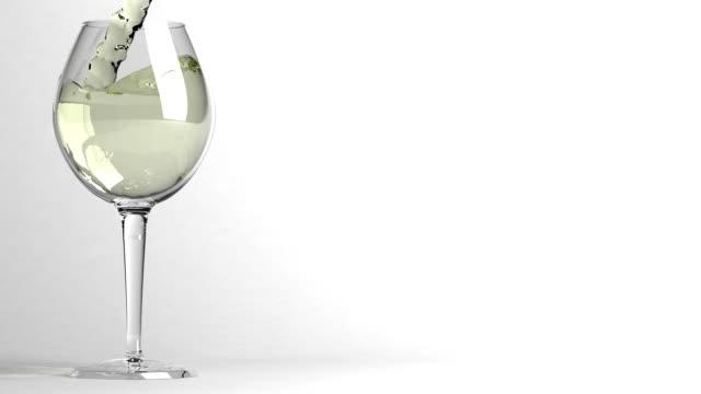 glass of wine - vit rieslingdruva bildbanksvideor och videomaterial från bakom kulisserna