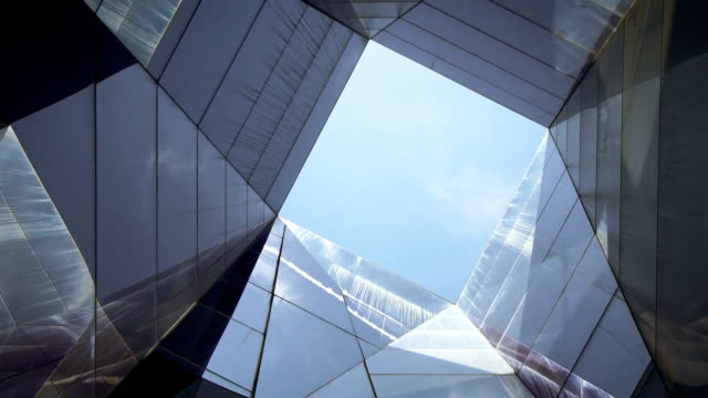 glass structure - contemporary architecture stock videos & royalty-free footage