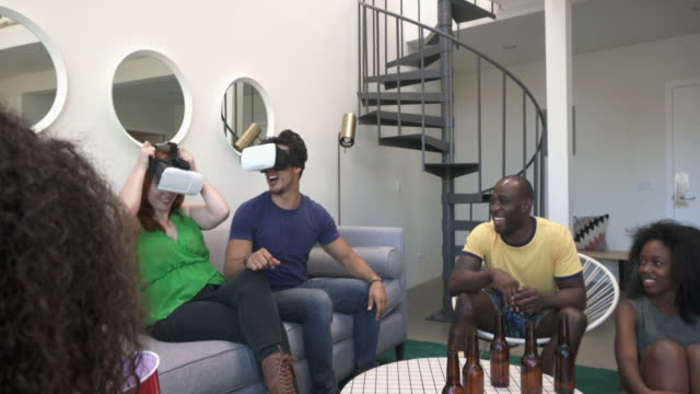 MONTAGE - VR Glasses Device Party Friends Loft California video