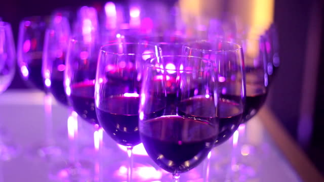 glasses of wine in a restaurant video