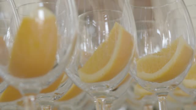 Glasses With Orange Slices