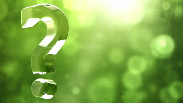 Glassy Question Mark Spin Background Loop - Textured Green HD video