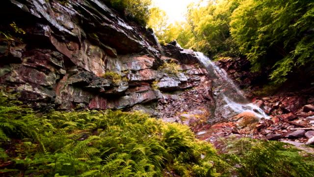 glen onoko fällt in den lehighton state park in der nähe von jim thorpe. pennsylvania, usa. - gebirge pocono mountains stock-videos und b-roll-filmmaterial