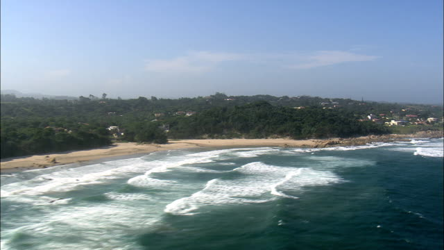 Glenmore Beach To Trafalgar  - Aerial View - KwaZulu-Natal,  South Africa This clip was filmed by Skyworks on HDCAM SR 4:4:4 using the Cineflex gimbal. KwaZulu-Natal,   South Africa natal stock videos & royalty-free footage