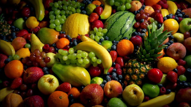 Glistening Fruit Pile Healthy Diet Concept