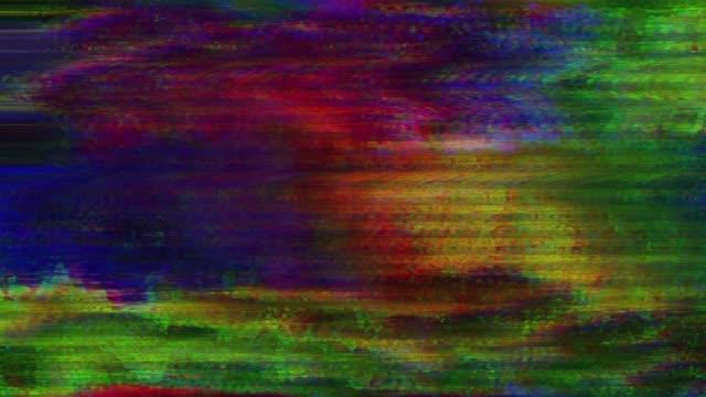 不具合には、ビデオが破損しています。デジタル ノイズを色します。 - 木目のビデオ点の映像素材/bロール