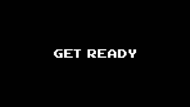 GET READY Glitch Text Animation (3 Versions with Alpha Channel), Old Gaming Console Style, Rendering, Background, Loop GET READY Glitch Text Animation (3 Versions with Alpha Channel), Old Gaming Console Style, Rendering, Background, Loop, 4k video game stock videos & royalty-free footage